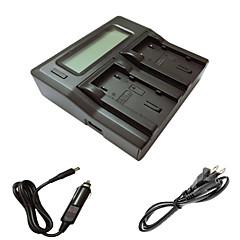 ismartdigi vf823 815 lcd kettős töltő autós töltő kábel JVC vf823 u 815 u kamera batterys