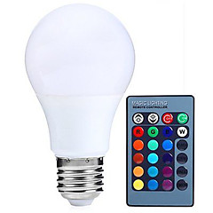 5W E27 LED Globe Bulbs RGB Dimmable 24Key Remote-Controlled 16 Color Changering Led Lamp(AC85-265V)
