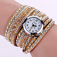 Dames Modieus horloge Polshorloge Armbandhorloge Kwarts Lichtgevend Kleurrijk imitatie Diamond PU BandVintage Glitter Bohémien Bedeltjes