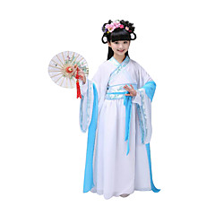 Cosplay Costumes Festival/Holiday Halloween Costumes Pink Blue Light Purple Solid Leotard/Onesie Headwear Kid Polyester