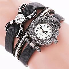 Women's Dress Watch Fashion Watch Wrist watch Bracelet Watch Punk Colorful Quartz PU BandVintage Sparkle Candy color Butterfly Bohemian