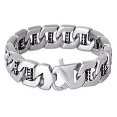 Heren Armbanden met ketting en sluiting Modieus Vintage PERSGepersonaliseerd Roestvast staal Sieraden VoorFeest Verjaardag Dagelijks
