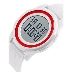 SKMEI Herre Unisex Sportsur Armbåndsur Digital LCD Kalender Vandafvisende Dobbelte Tidszoner alarm Selvlysende Stopur Gummi Bånd SejSort