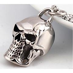 Herre Halskædevedhæng Smykker Dødningehoved Titanium Stål Mode Personaliseret Punk Stil kostume smykker Smykker Til Bryllup