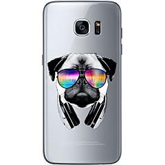 Mert Ultra-vékeny / Átlátszó / Minta Case Hátlap Case Kutya Puha TPU mert Samsung S7 edge / S7 / S6 edge plus / S6 edge / S6