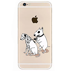 For iPhone 7 7 Plus 6S 6 Plus Case Cover Dog Pattern Relief TPU Acrylic Material Phone Case