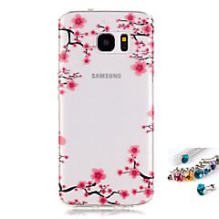 إلى IMD / شفاف / نموذج غطاء غطاء خلفي غطاء زهور ناعم TPU إلى Samsung S7 edge / S7 / S6 edge / S6 / S5 Mini / S5