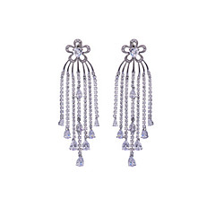 Earring Drop Earrings Jewelry Women Wedding / Party / Daily / Casual Alloy 1 pair Silver