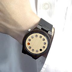 Heren Dames Uniseks Sporthorloge Modieus horloge Unieke creatieve horloge Japanse quartz / Leer Band Vintage VrijetijdsschoenenZwart