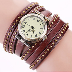 Women's Fashion Watch Wrist watch Bracelet Watch Punk Colorful Quartz Leather Band Vintage Sparkle Dot Bohemian Charm Bangle Cool Casual