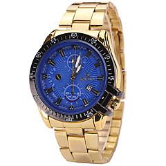 Men's Wrist Quartz Personality Simple Calendar Cool Unqiue Watch Round Alloy Dial Originality Casual Fashion Watch