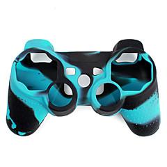 PS3 Oyun Kolu İçin Koruyucu Çift Renkli Silikon Kılıf (Mavi ve Siyah)