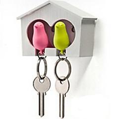 Brelok do kluczy Ptaszek Słodkie Gwizdek Tęczowy ABS