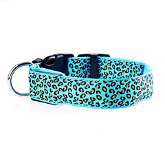 katten / honden Kraag LED verlichting / Verstelbaar/Uitschuifbaar / Elektronisch/Electrisch / Oplaadbaar Mat zwartRood / Groen / Blauw /