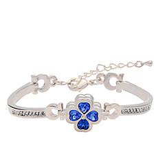 Dames Armbanden met ketting en sluiting Kristal PERSGepersonaliseerd Modieus Europees Legering Bladvorm Sieraden Klavertje vier Sieraden