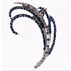 Σκουλαρίκια με Κλιπ Στρας Επάργυρο Κράμα Παγώνι Ουράνιο Τόξο Κοσμήματα Πάρτι Καθημερινά Causal 1pc