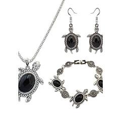 Damskie Zestawy biżuterii Modny Europejski biżuteria kostiumowa Żywica Stop Animal Shape żółw 1 Naszyjnik 1 parę kolczyków 1 Bransoletka