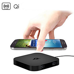 QI Wireless Charger Pad 2 USB Ports Charging for Samsung HTC LG Nexus Nokia
