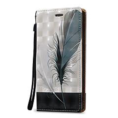 Til Samsung Galaxy Note 5 Note 4 Case Cover 3D Fjær Hard PU Læder til Note 3
