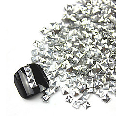 300PCS 3D Silver Square Alloy Nail Art Golden&Silver Decorations