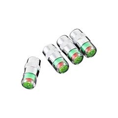 ελαστικών αυτοκινήτων στέλεχος της βαλβίδας καπάκια με αισθητήρα οθόνη ενδείξεων πίεσης 4pcs ποδήλατο συναγερμού