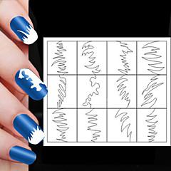 24Stk. Forskjellige Størrelser Profesjonell Gjør Mønster Neglekunst Verktøy # 04
