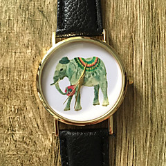 Dames Modieus horloge Polshorloge Kwarts / PU Band Vintage Cool Vrijetijdsschoenen Zwart Wit Zwart Bruin