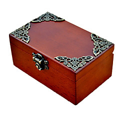 Music Box Square Container Novelty Sound Wood Metal Boys' Girls'