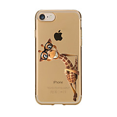 For Transparent Pattern Case Back Cover Case Lovely Giraffe Soft TPU for IPhone 7 7Plus iPhone 6s 6 Plus iPhone 6s 6 iPhone 5s 5 5E 5C
