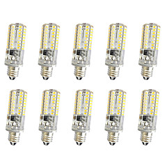 10 PCS 5W E11/E12/E14 Decoration Light T 64LED SMD 3014 380LM  Warm White Cool White Dimmable AC110V/220 V