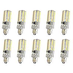 5W E14 E12 E11 장식 조명 T 64 SMD 3014 380 lm 따뜻한 화이트 차가운 화이트 밝기 조절 AC220 V 10개