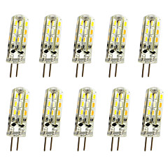 10 Pcs 1.5W G4 LED Bi-pin Lights  24 SMD 3014 150LM  Dimmable  Warm White / Cool White Decorative DC12V