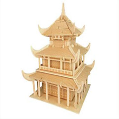 Jigsaw Puzzles Wooden Puzzles Building Blocks DIY Toys YueYang Tower 1 Wood Ivory Model & Building Toy