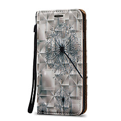 3D Relief Dandelion Pattern Super Magnetic Force Adsorption PU Phone Case for iPhone 7 Plus 7 6 Plus 6S 5 SE