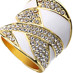Ring Casual Jewelry Alloy Women Ring 1pc,Adjustable White