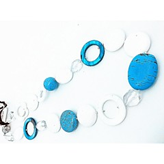 Necklace Chain Necklaces Jewelry Party Daily Casual Euramerican Fashion Cowry Women 1pc Gift White Blue Green