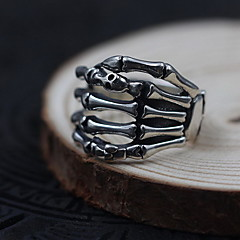 Men's Women's Ring Jewelry Personalized Sterling Silver Skull / Skeleton Jewelry For Daily Casual