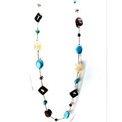 Damen Stränge Halsketten Multi-Stein Kristall Krystall Edelstein Einzelkette Modisch Euramerican Hellblau Schmuck Party Alltag Normal1