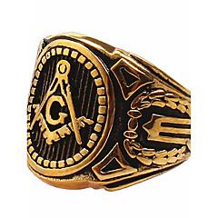 Statement-ringe Ring Titanium Stål Mode Guld Smykker Daglig Afslappet 1 Stk.