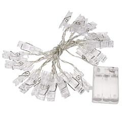 1pc 2m μίνι 20 οδήγησε φώτα εγχόρδων 3xaa μπαταρίας κάρτα φωτογραφιών κλιπ Χριστούγεννα φώτα νέα φώτα έτους κόμμα του γάμου διακόσμηση του