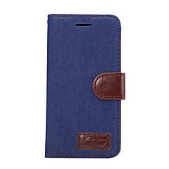 Για Πορτοφόλι Θήκη καρτών με βάση στήριξης Ανοιγόμενη tok Πλήρης κάλυψη tok Μονόχρωμη Σκληρή Συνθετικό δέρμα για LG LG G5 LG G4 LG G3