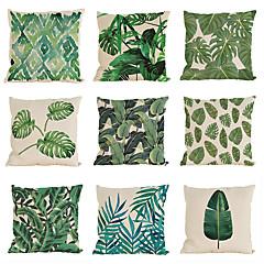 9 stk Linnen Kussenhoes Kussensloop,Zuiver Met Textuur Modern/Hedendaags Informele Traditioneel /Klassiek Strandstijl Tropisch