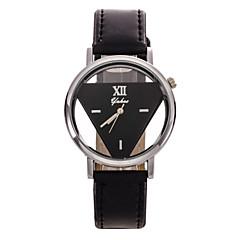 Mujer Reloj de Moda Cuarzo Piel Banda Flor Negro
