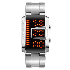 Herren Modeuhr Armbanduhr Digitaluhr digital LED Kalender Wasserdicht Legierung Band Cool Schwarz Silber Schwarz Silber