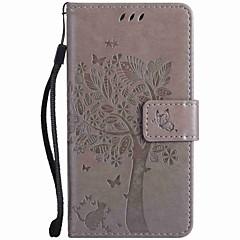 Mert Pénztárca Kártyatartó Állvánnyal Dombornyomott Case Teljes védelem Case Fa Kemény Műbőr mert NokiaNokia Lumia 950 Nokia Lumia 640