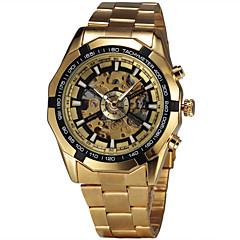 Męskie Modny Zegarek na nadgarstek zegarek mechaniczny Nakręcanie automatyczne szwajcarski Designerskie Stop Pasmo Postarzane Na co dzień