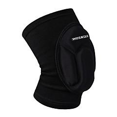 wosawe 1 db elasztikus térdvédőt lélegző foci kosárlabda snowboard korcsolyázás kerékpáros sport láb hüvely kneepad védő