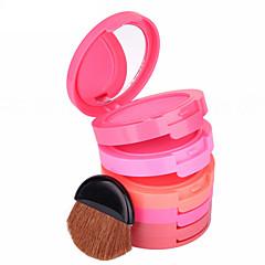 5 Rouge Pudder Farvet glans Længerevarende Naturlig Ansigt