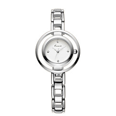 Dames Skeleton horloge Kwarts Legering Band Elegante horloges Zilver Goud Wit Zwart Zilver
