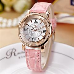 Men's Mechanical Watch / Swiss Designer Quartz Alloy Band Casual Black White Silver Red Pink